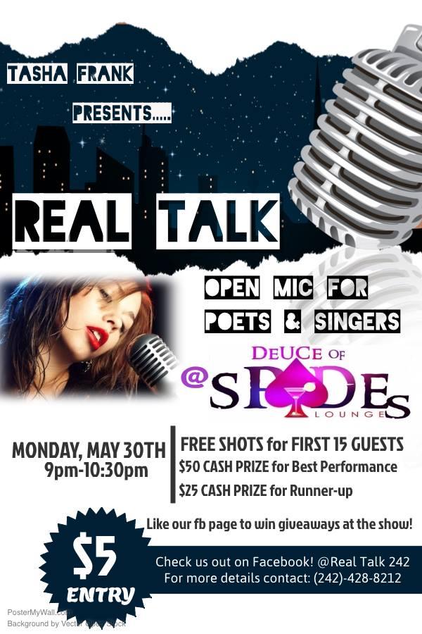 REAL TALK presented by Tasha Frank