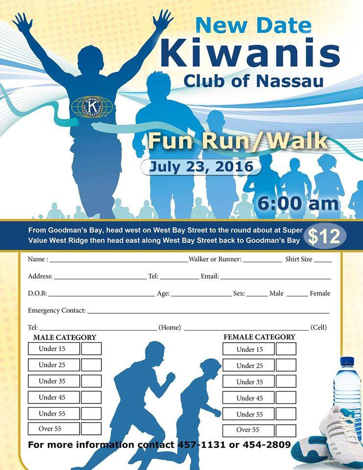 Kiwanis Club of Nassau Fun Run Walk