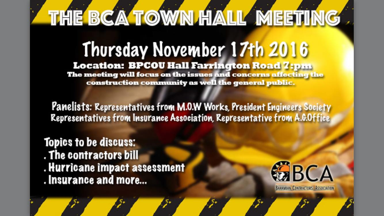 The BCA Town Hall Meeting