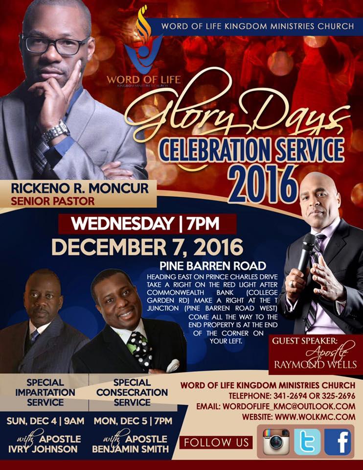 Glory Days Celebration Service 2016