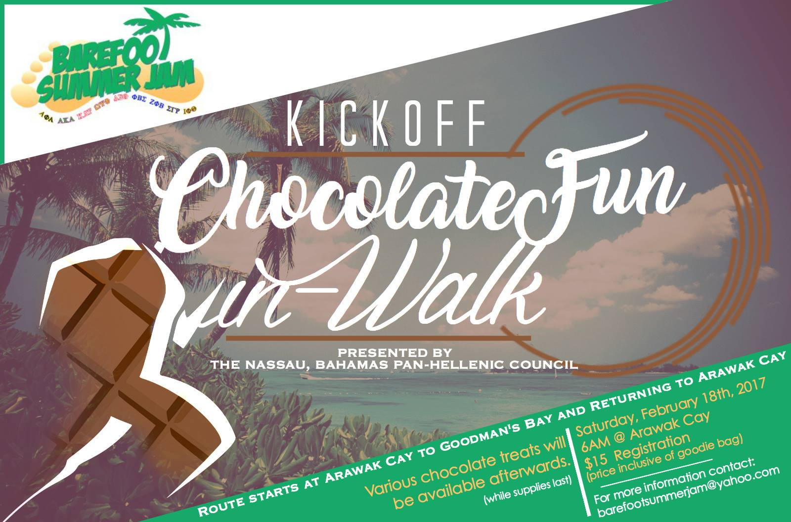 Barefoot Summer Jam Chocolate Fun Run Walk