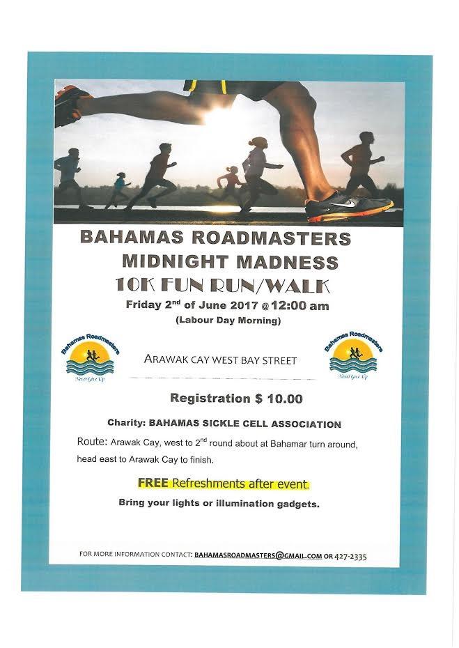 Bahamas Roadmasters Midnight Madness 10K Fun Run/Walk
