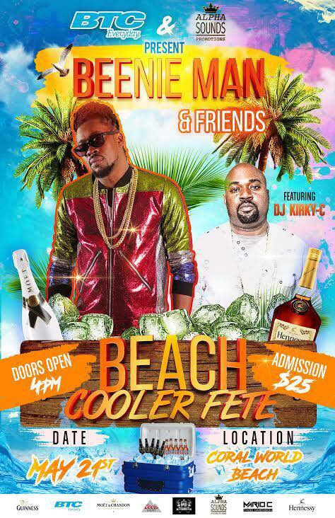 Beenie Man and Friends Beach Cooler Fete