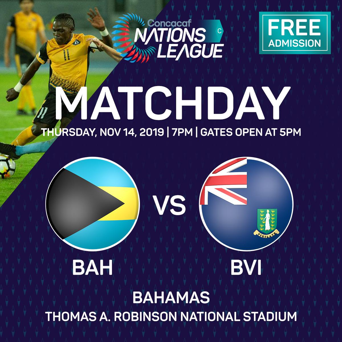 Nation League Match Day BAH vs BVI