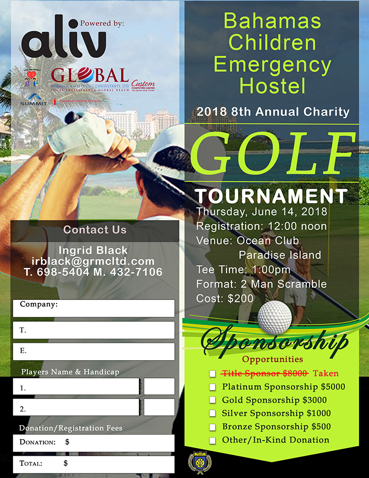 Charity Golf Tournament | Bahamas Children Emergency Hostel