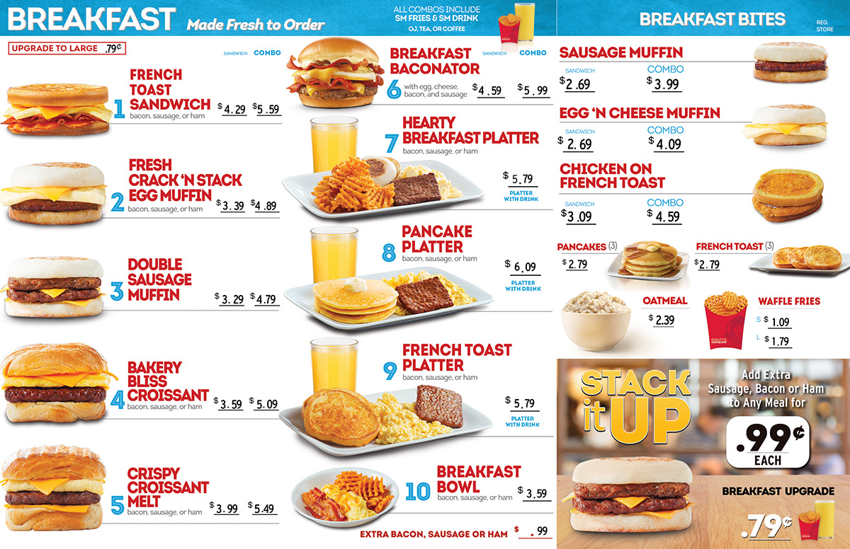 Wendy's Breakfast Menu