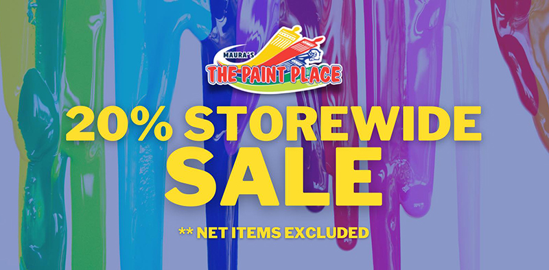 GET YOUR PAINT TODAY! 20% Storewide! Locations: Top of the hill Mackey Street & Sandyport