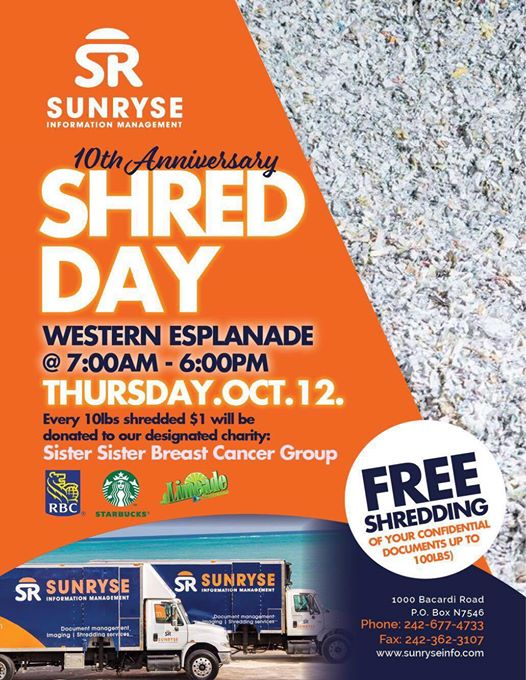 Sunryse Information Management 10th Anniversary Shred Day