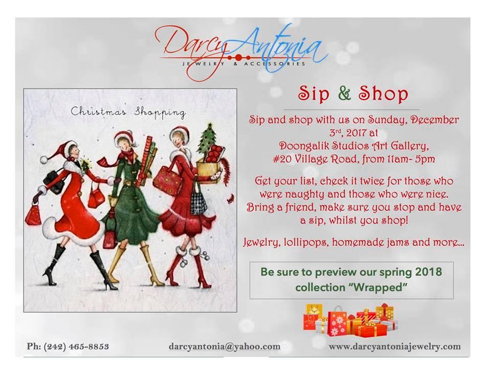 Darcy Antonia Sip and Shop