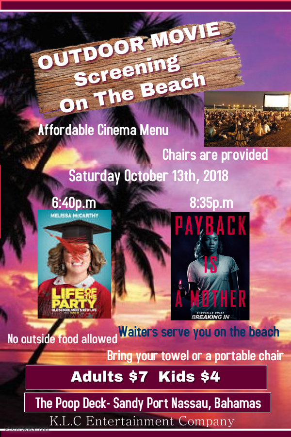 Outdoor Movie Screening On The Beach