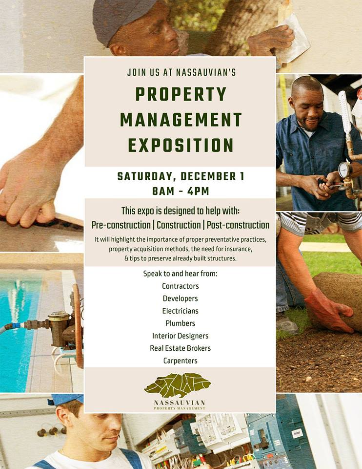 Property Managment Small Business Expo & Workshop Hosted by Nassauvian Property Managment