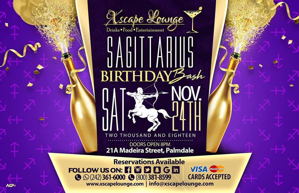 Sagittarius Birthday Bash Hosted by Xscape Lounge