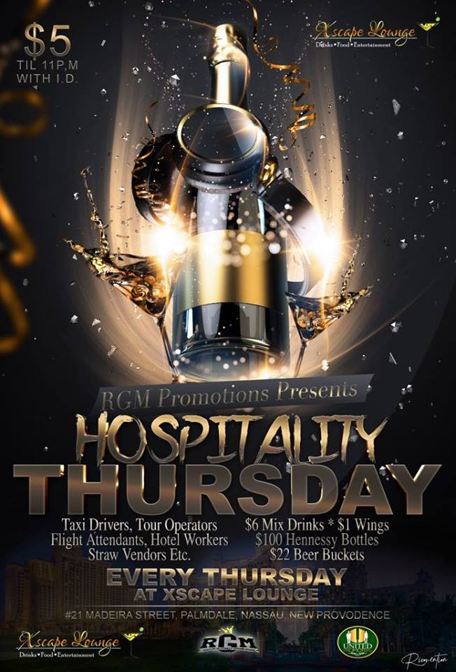 Xscape Lounge Hospitality Thursday Presented by RGM Promotions