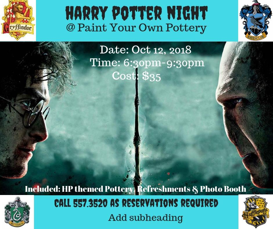 Harry Pottery Night Hosted by Paint Your Own Pottery - Bahamas