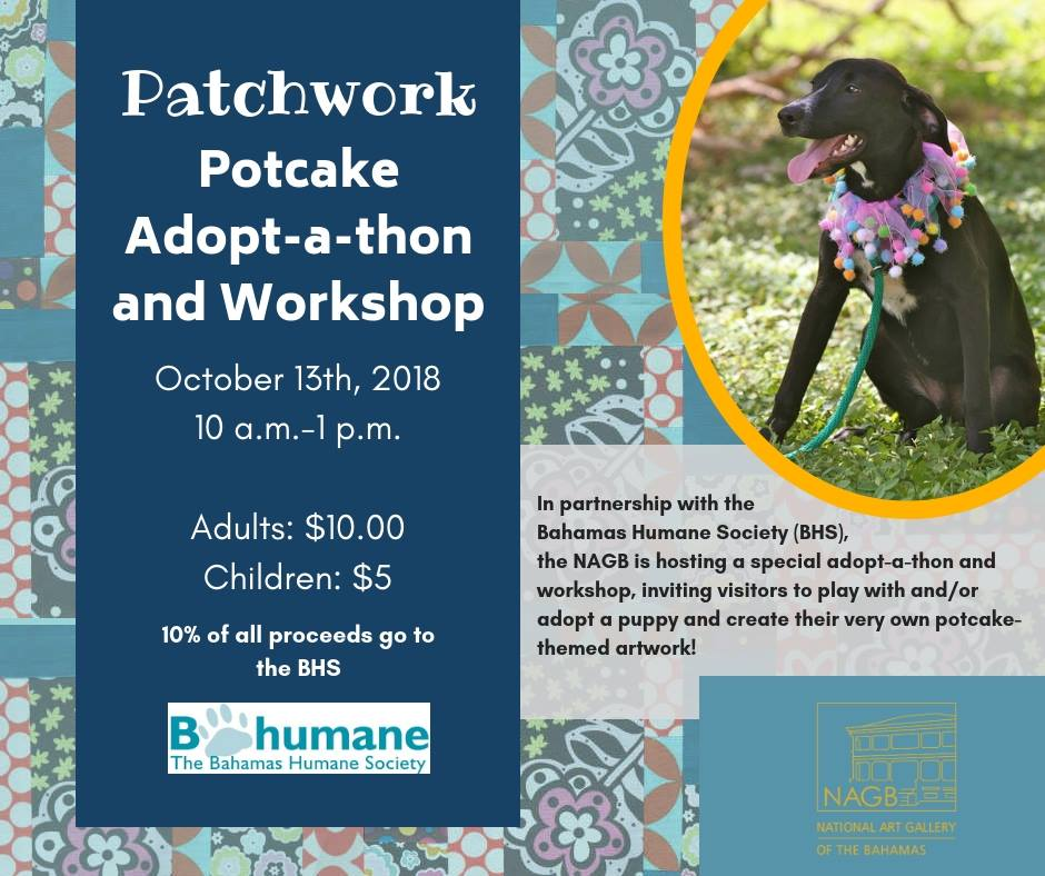 Patchwork Potcake Adopt-a-thon and Workshop Hosted by The National Art Gallery of The Bahamas and Bahamas Humane Society