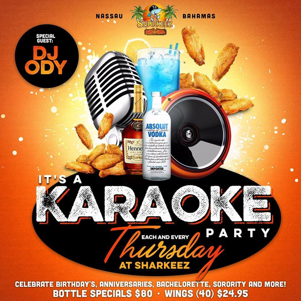 It's A Karaoke Party At Sharkeez