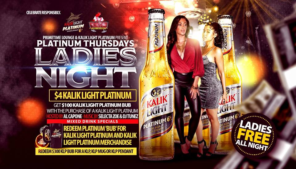 Platinum Thursdays: Ladies Nights at Primetime Lounge