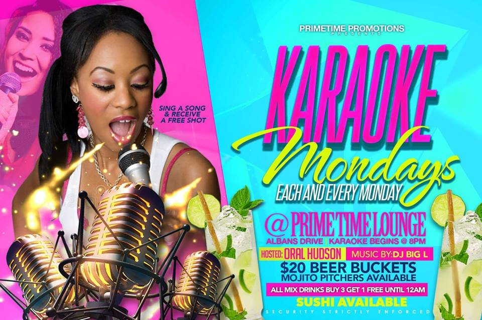 Karaoke Mondays at Primetime Lounge