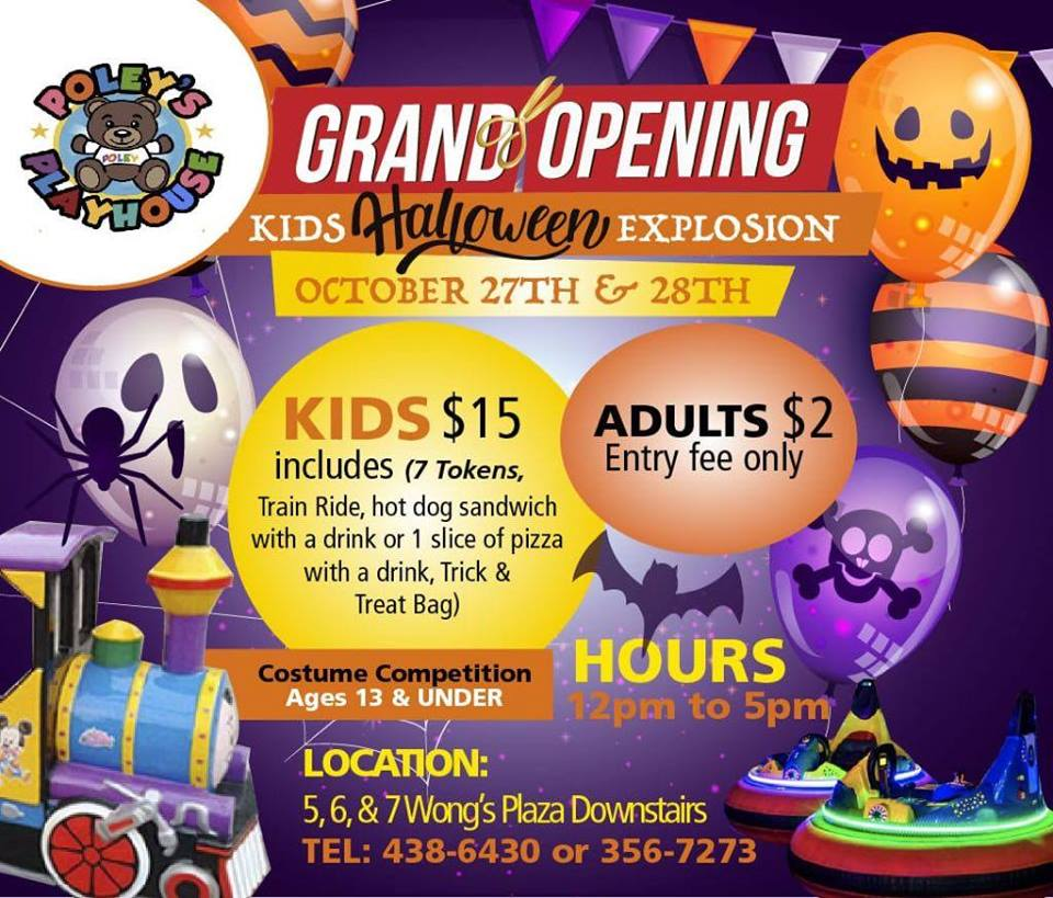 Kids Halloween Explosion Hosted by Poley's Playhouse