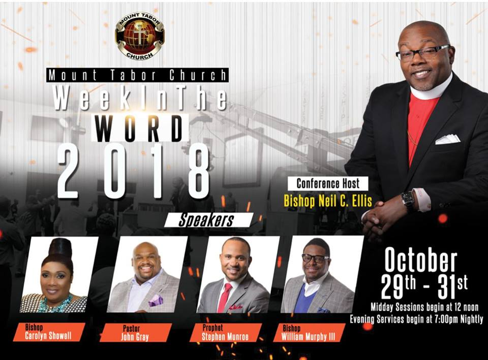 Week In The Word 2018 Hosted by Mount Tabor Church