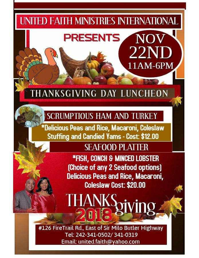 Thanksgiving Luncheon Hosted by United Faith Ministries Int'l