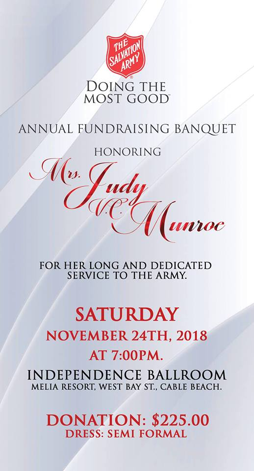 Annual Fundraising Banquet Hosted by The Salvation Army Bahamas