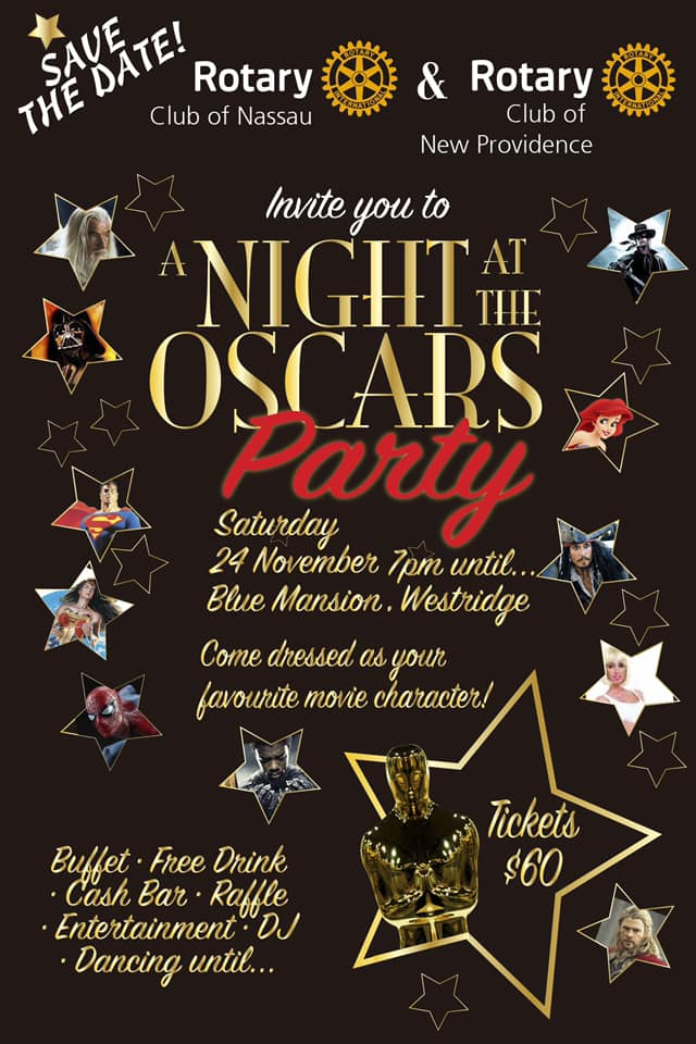Oscars Party Hosted by Rotary Clubs of Nassau and New Providence