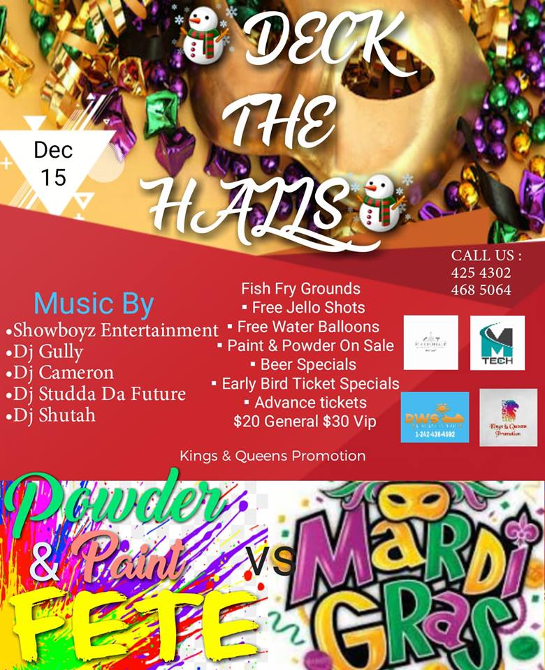 Deck The Halls Fete Meets Mardi Gras Christmas Edition Hosted by Kings & Queens Promotion