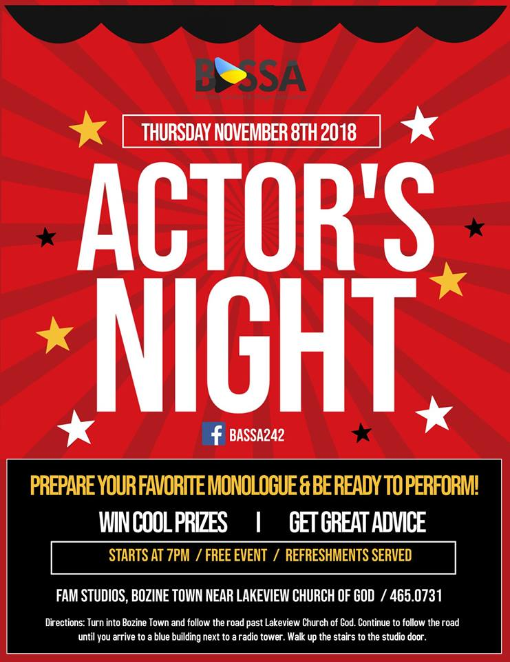 Actor's Night Hosted by Bahamas Screen & Stage Association