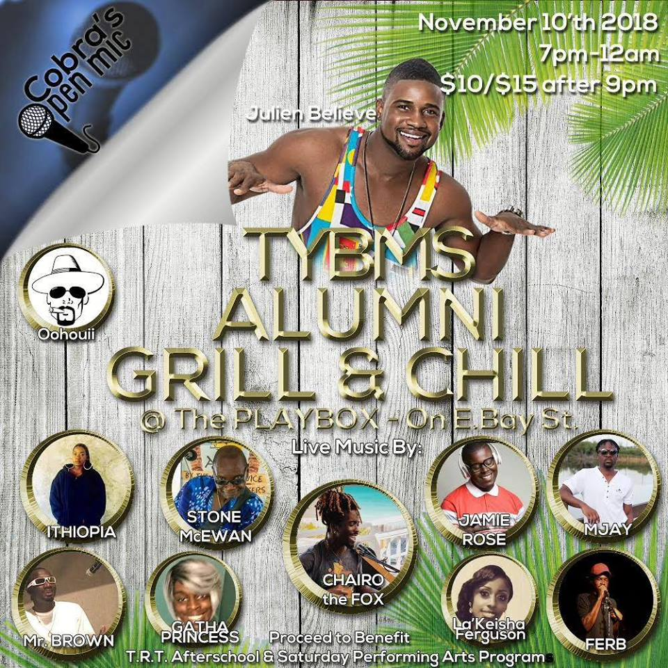 The TYBMS Alumni Chill & Grill Hosted By The Young Bahamian Music Society