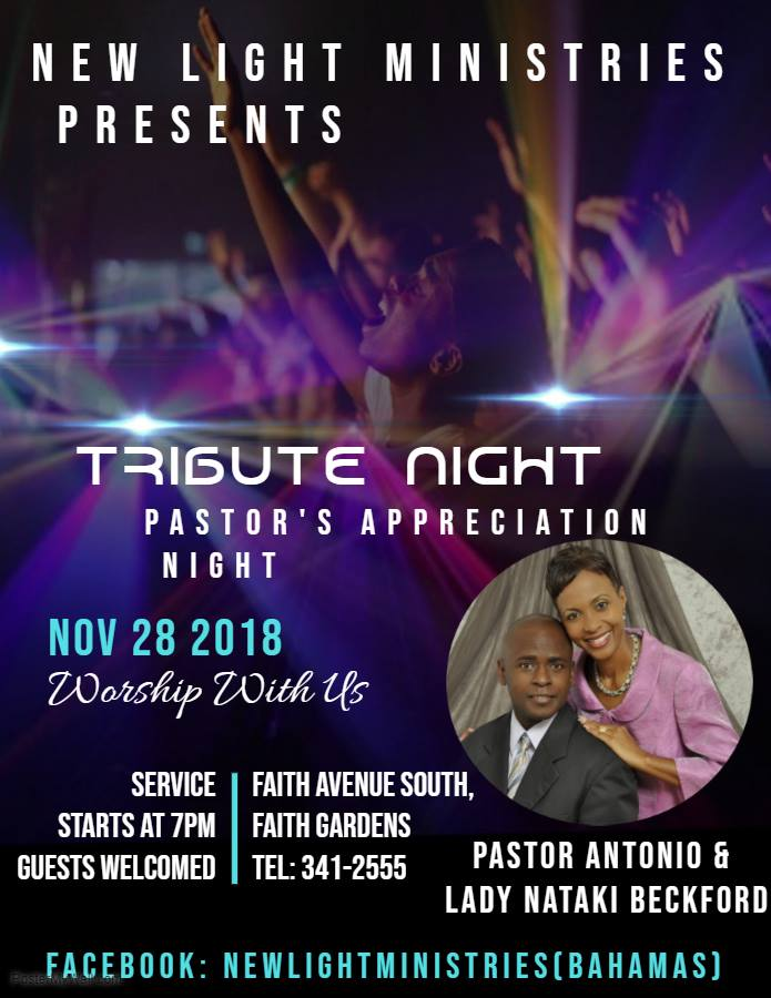 Pastor Antonio Beckford's Appreciation Night Hosted by New Light Ministries (Bahamas)