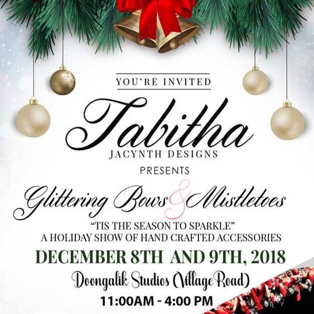 Tabitha Jacynth Designs Presents Glittering Bows & Mistletoes