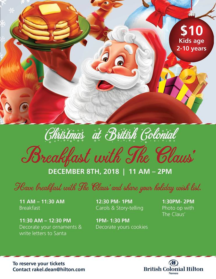 Breakfast with The Claus Hosted by British Colonial Hilton Nassau