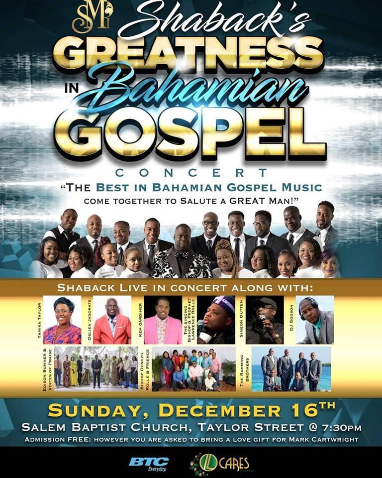 Shaback's Greatness in Bahamian Gospel