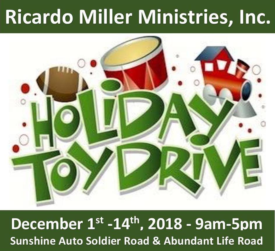 Islandwide Kids Christmas Toy Drive Hosted by Ricardo Miller Ministries Inc.