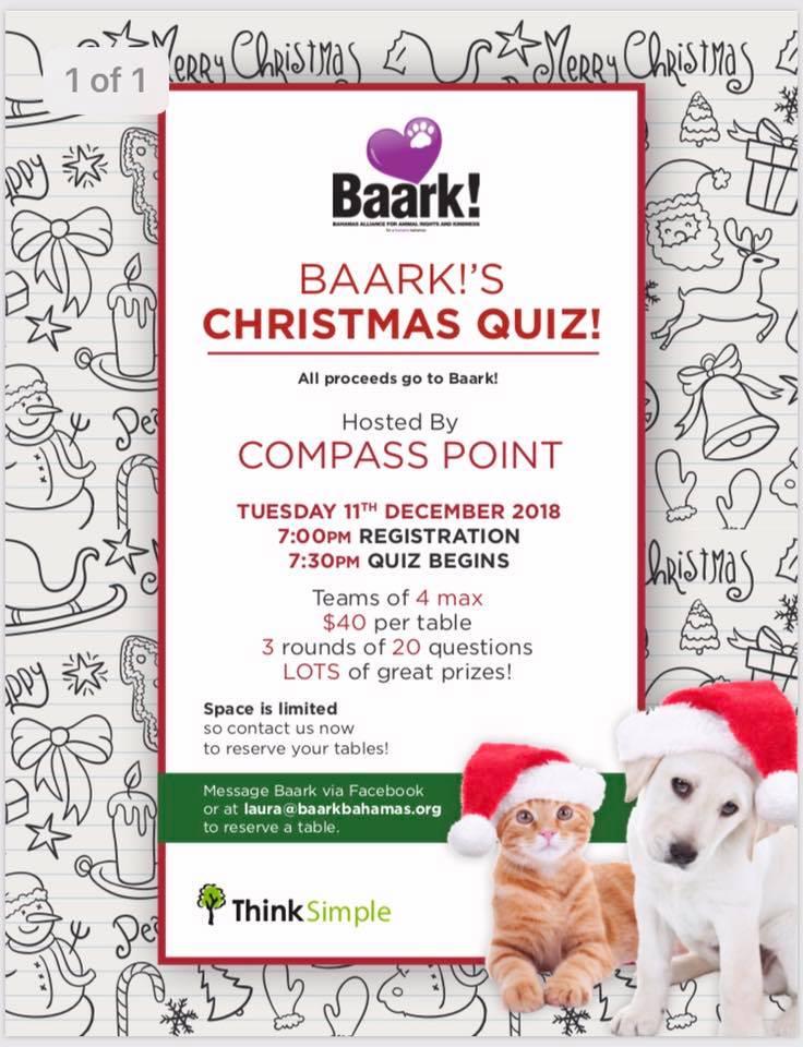 BAARK! Christmas trivia!!