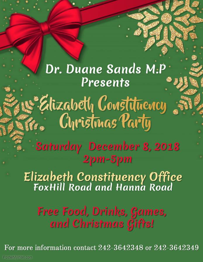 Elizabeth Constituency Christmas Party Presented by Dr. Duane Sands M.P.