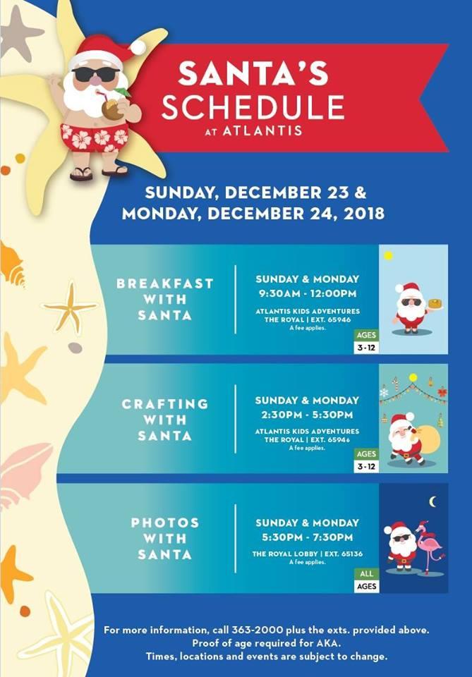 Holiday Events at Atlantis!