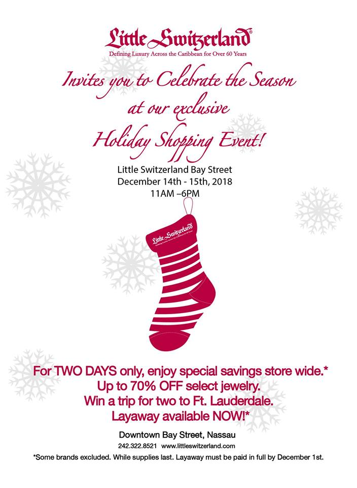 Holiday Shopping Event at Little Switzerland