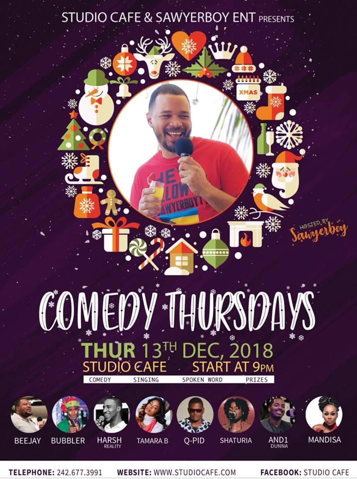 Comedy Thursdays at Studio Cafe Hosted by Sawyer Boy