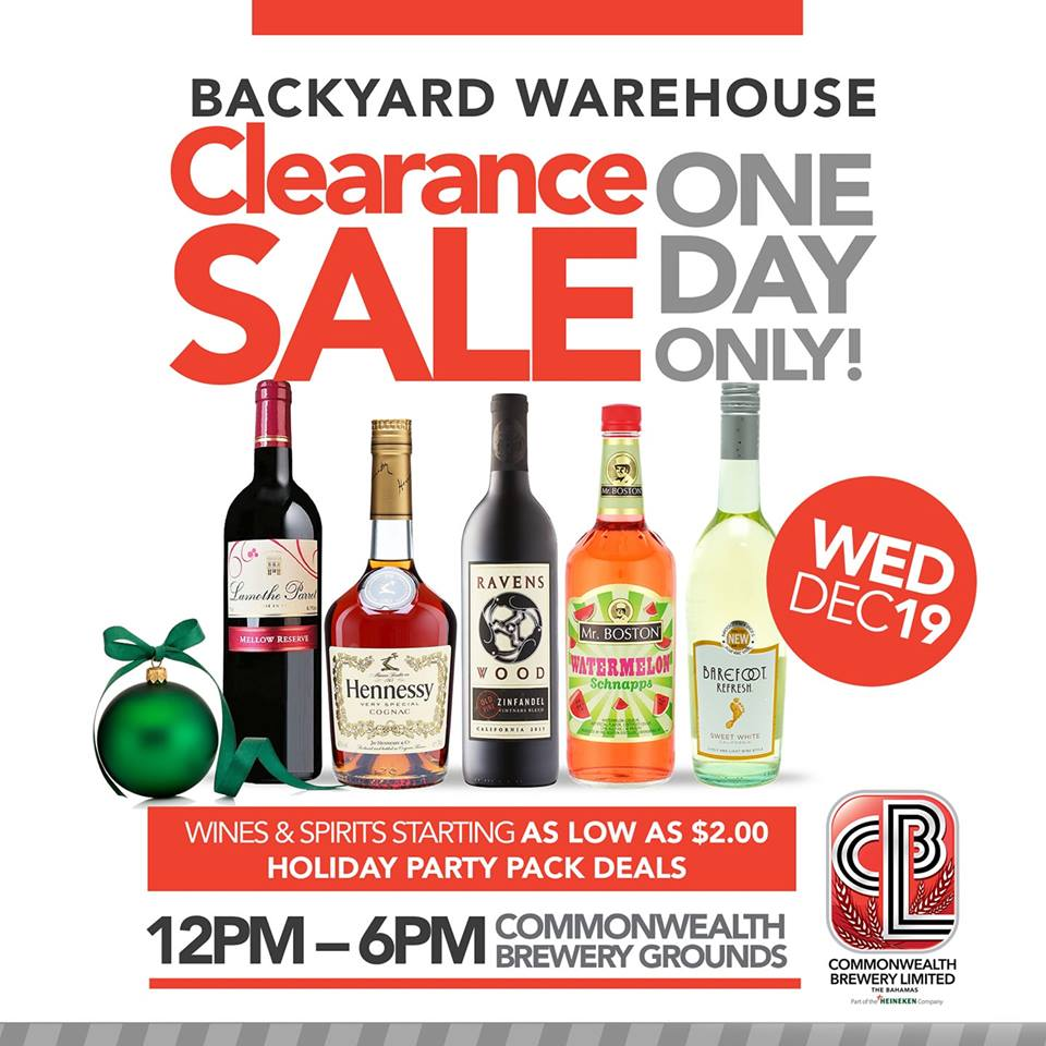 Backyard Warehouse Clearance Sale - One Day Only!