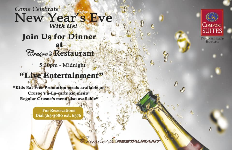New Year's Eve Celebration! Hosted by Crusoe's Restaurant