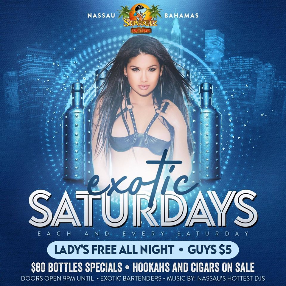 Exotic Saturdays at Sharkeez Bar & Grill