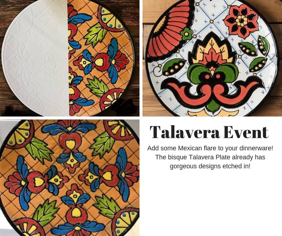 Talavera Plate Event Hosted by Paint Your Own Pottery