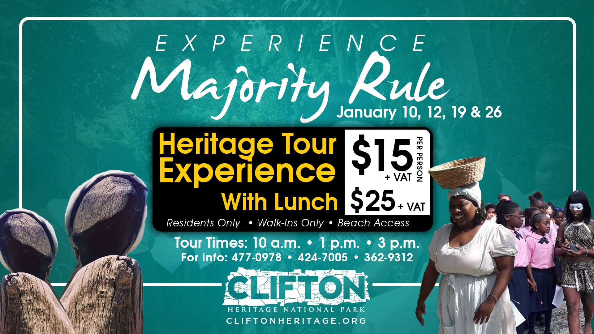 Experience Majority Rule : Heritage Tour Experiences