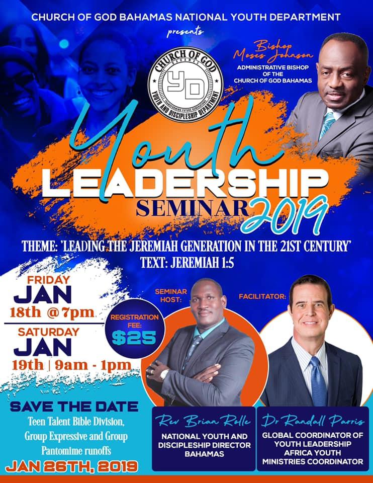 Youth Leadership Seminar 2019 Presented by Church Of God Bahamas