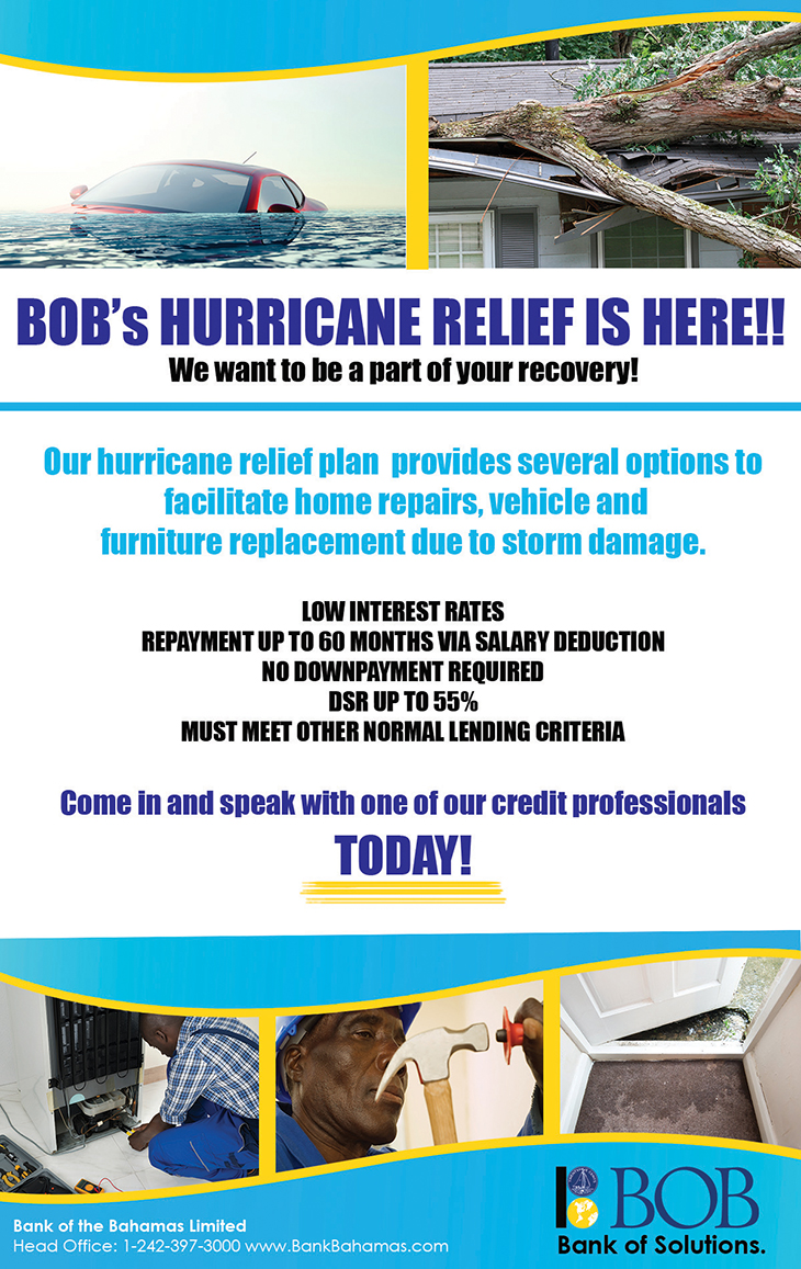Bank Of The Bahamas Limited   Hurricane Relief Is Here