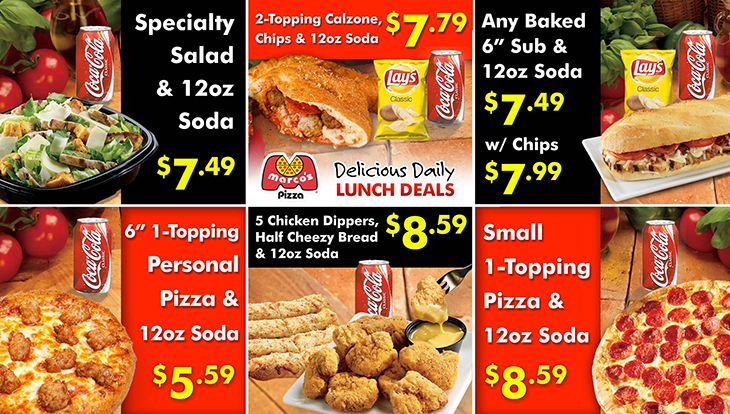 New Delicious Daily Lunch Deals at Marco's Pizza!