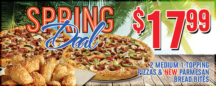 Try the NEW Parmesan Bread Bites with our Spring Deal on dominos242.com!