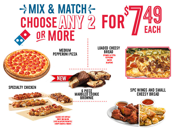 Mix and Match At Dominos Pizza!